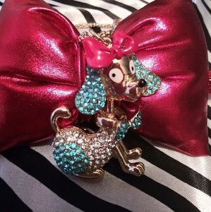 Jewelry - Betsey Johnson Poodle Necklace